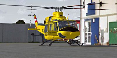 OEAMTC-Flugrettung Bell 412 on the ground.