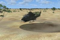 Pakistan Cobra AH 1S in flight.