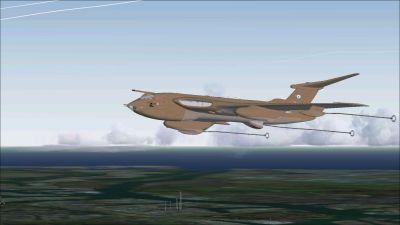 RAF Victor K2 XM715 in flight.