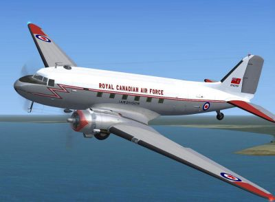RCAF Dakota MkIV KN269 in flight.