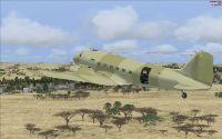Rhodesian Air Force Douglas C-47 in flight.
