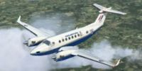 Royal Air Force Beechcraft King Air in flight.
