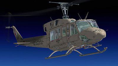 Royal Bahraini Air Force Bell 212 in flight.