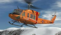 Royal Canadian Air Force Bell 212 in flight.