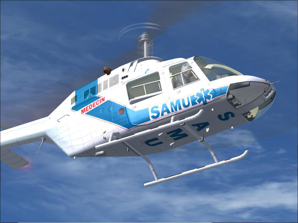 samu dodosim 206 helicopter for fsx