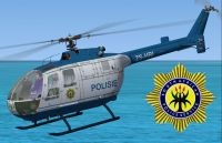 SAPS MMB BO-105 in flight.