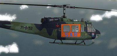 """SAR 71 Hamburg"" Bell UH-1H in flight."