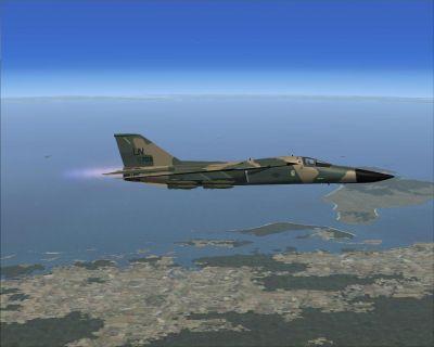 Shadowsix Lakenheath F-111 in flight.