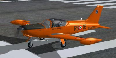 SIAI Marchetti Aermacchi SF-260 on runway.