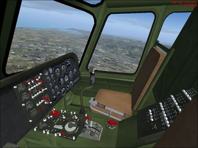 Virtual cockpit of Sikorsky S-55 / Whirlwind.