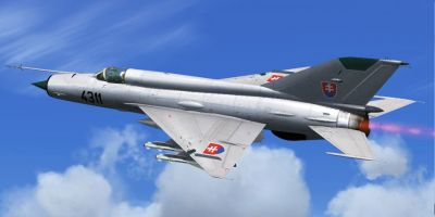 Slovak MiG-21 in flight.
