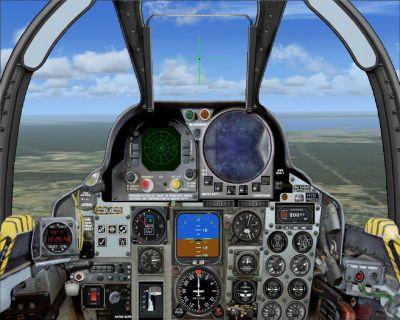 Virtual cockpit of Spain Air Force F4 Phantom.