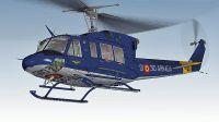 Spanish Navy Bell 212 in flight.