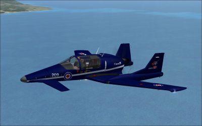 Sus Scrofa SS4P Trainer in flight.