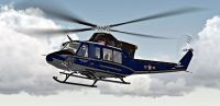 US Air Force Bell 412 in flight.