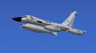 US Air Force Convair B-58 59-2440 in flight.