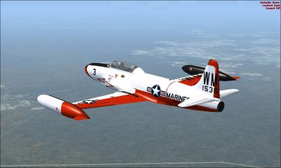 US Marines T-33 TV-2 in flight.