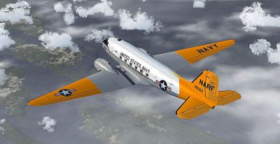 US Navy - NARF Douglas C-47 in flight.