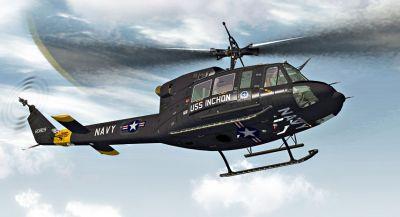 US Navy - USS Inchon Bell 212 in flight.