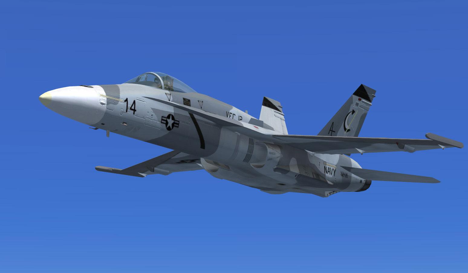 US Navy FA-18 Hornet Omars Grey for FSX