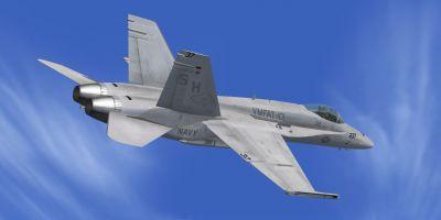 US Navy F/A-18 VMFAT-101 MiG Killer in flight.