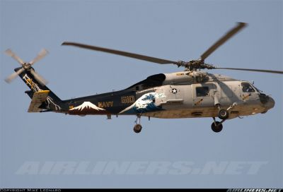 Photograph of US Navy Sikorsky SH-60 Seahawk 610 in flight.