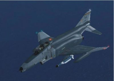 Virtavia F-4 Phantom II in flight.