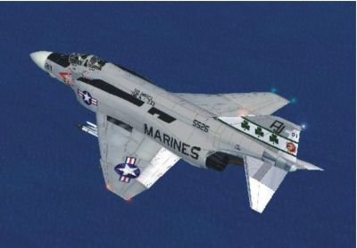 Virtavia F-4 Phantom II in flight.