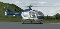 West Yorkshire Police Bo 105 on the ground.