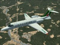 Alitalia Learjet 45 in flight.
