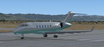 Bombardier Challenger 300 on runway.