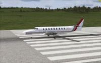 Brindabella Airlines Metro III on runway.