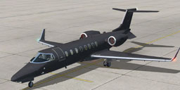 CIA Learjet 45 on the ground.