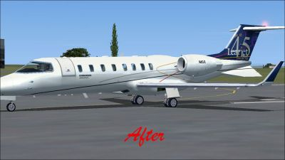 (After) Bombardier Learjet 45.