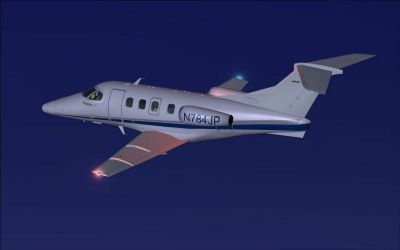 Embraer Phenom 100 in flight.