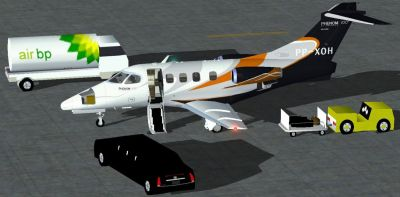 Embraer Phenom 100 on the ground.
