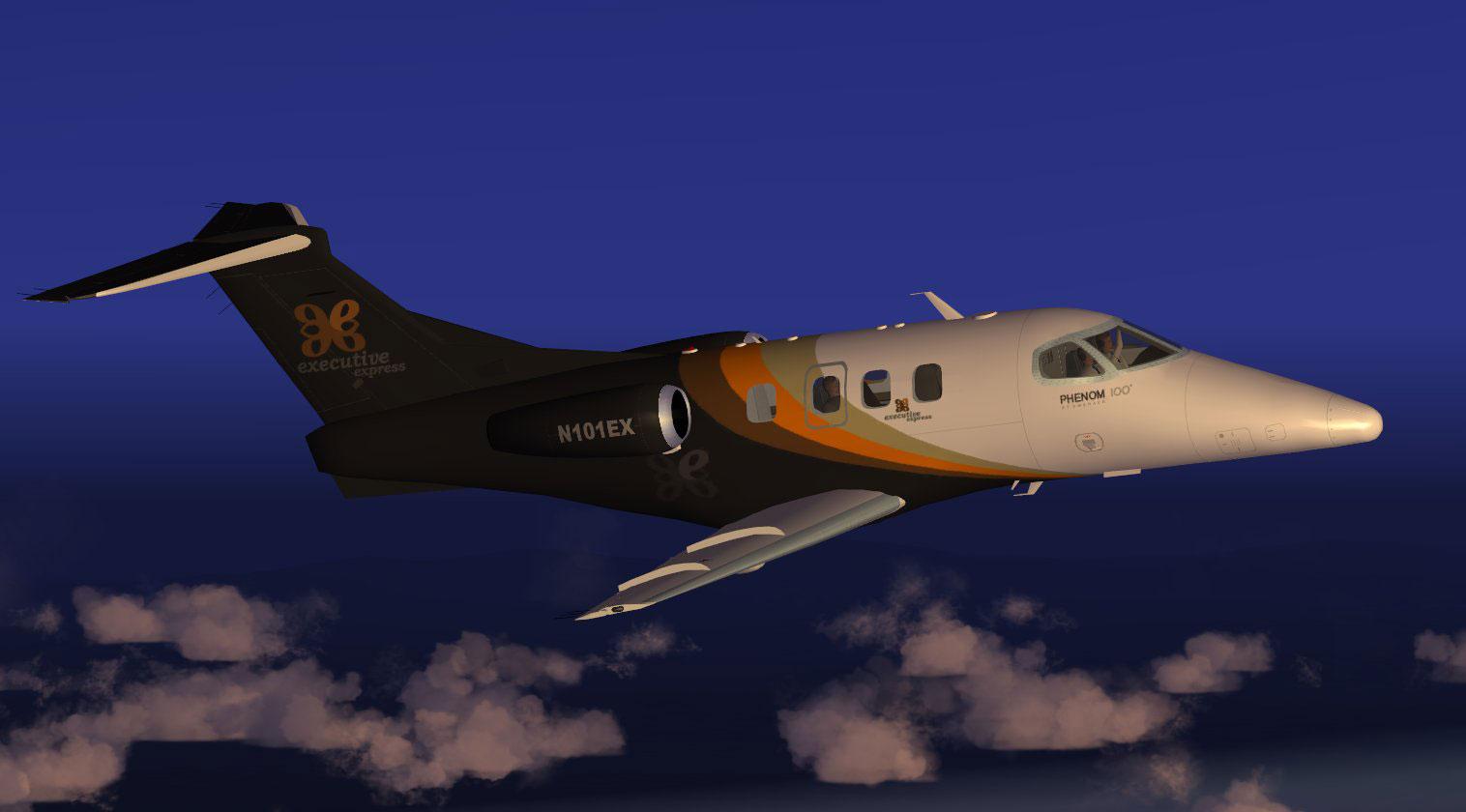 executive express embraer phenom 100 for fsx