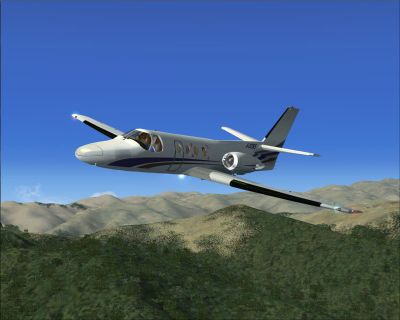 FSX/SP2 Cessna Citation 500 in flight.