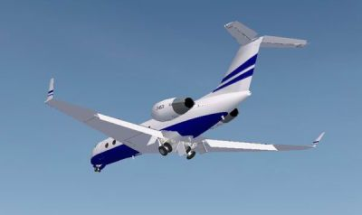 Gulfstream IV in flight.