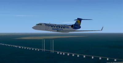Gulfstream V in flight.