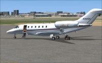 Netjets Cessna Citation on the ground.