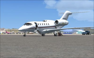 Netjets Cessna Citation on the ground.
