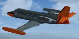 Piaggio PD-808RM in flight.