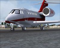 SP2 Citation X 2008 on runway.