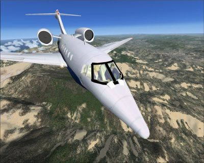 SP2 Citation X 2008 in flight.