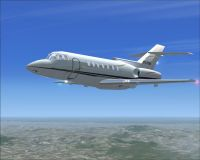 Raytheon Hawker 125-800XP in flight.