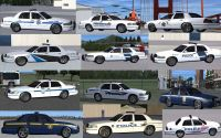 Selection of Crown Victoria Police cars available to download for FSX.
