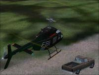 FBI Bell JetRanger 206B in flight.