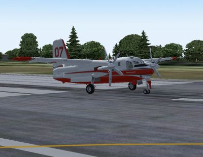 Grumman Tracker S-2F Firebomber.