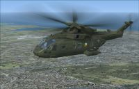 Irish Air Corps Agusta Westland EH101 in flight.